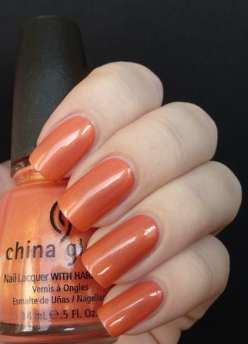China Glaze: Thataway- subtle shimmer, beautiful red toned ...