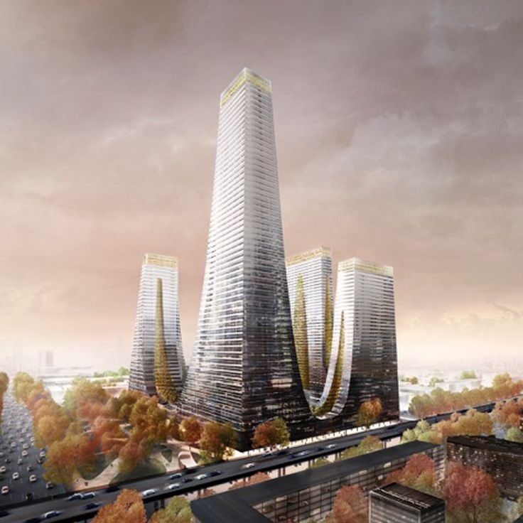 Tonkin Liu has revealed its plans for a family of fritted-glass skyscrapers, which will be arranged around a central plaza in the Chinese city of Zhengzhou