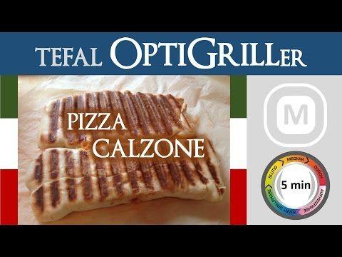 Pizza Calzone | Tefal OptiGrill (Stufe: manuell) - YouTube