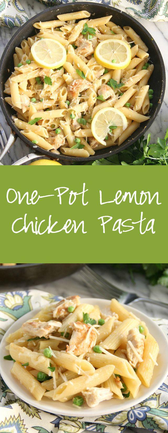 One-Pot Lemon Chicken Pasta