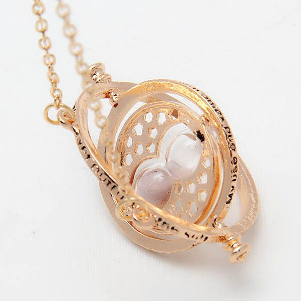 Harry Potter Hermione Granger Hourglass Rotating Time Pendant Necklace Gold New #Unbranded #Pendant