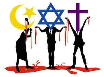 All the religions have blood stained in their hand...