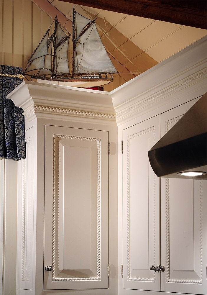 10 best rope design cabinets images on pinterest for White kitchen cabinets with crown molding