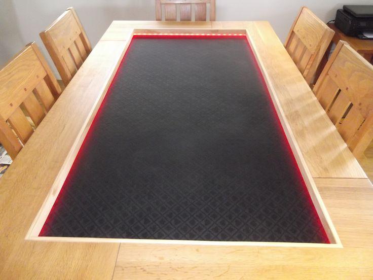 Custom built poker table tops