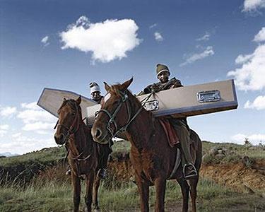 Coffins In Lesotho | Photo Obie Oberholzer