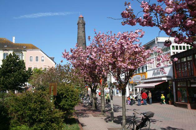 Frühlingserwachen am neuen Leuchtturm von Borkum