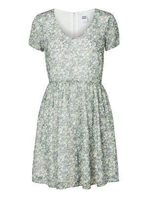 Flower Short dress, Tender Yellow, main