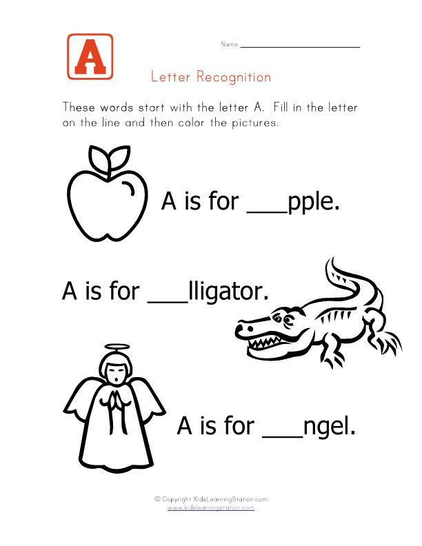 Ziemlich Alphabet Buchstaben Anerkennung Arbeitsblatt Fotos - Super ...