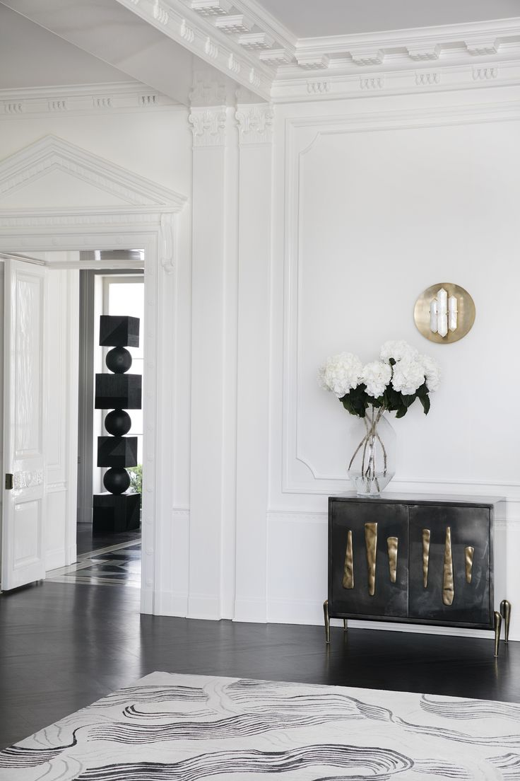 KELLY WEARSTLER | WAKE RUG. The intricacy of the line work feels sophisticated and elegant in any space