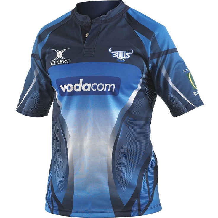 GILBERT Blue Bulls Home Super 14 Rugby Shirt 2010-12