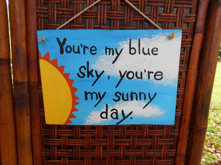 Music Quote Handpainted Wood Sign - Blue Sky #301 by JTribeCreations on Etsy https://www.etsy.com/listing/237906211/music-quote-handpainted-wood-sign-blue