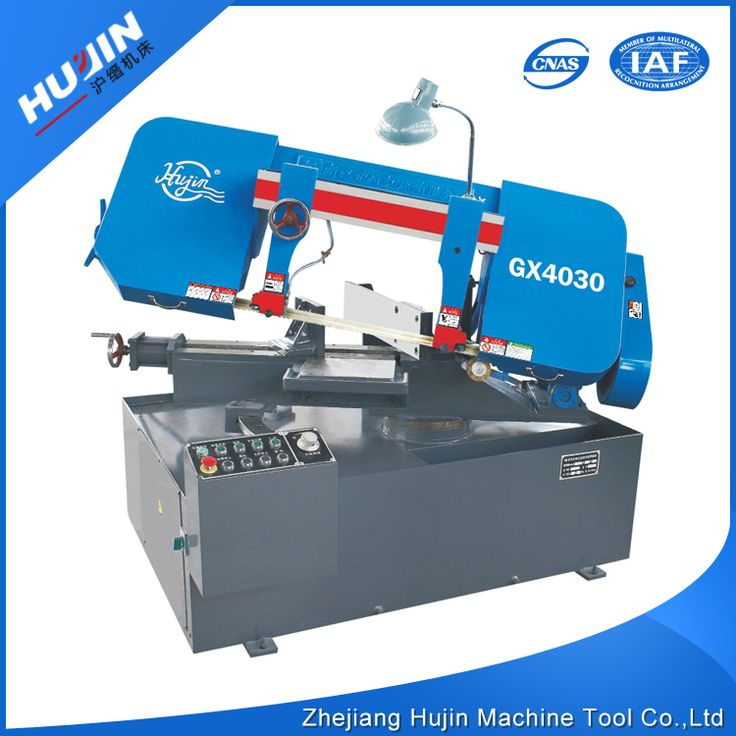 logo printed unique shape semi automatic industrial sewing band sawing machine for metal used