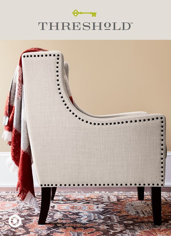 All you need are a few easy updates to transform your home from summer to fall. Like a tapestry area rug and plenty of throw blankets in a rich, rust-red color that's showing up everywhere this season. Style tip: drape a mohair blanket over a classic wingback chair for a cozy atmosphere that's a little too easy to fall into. Threshold, only at Target.