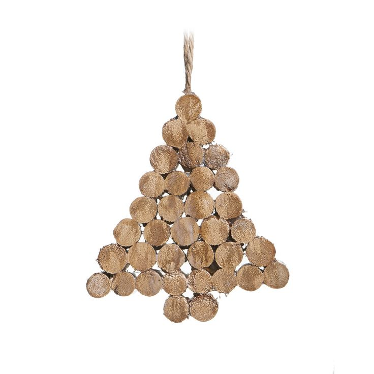 Wilko rustic glow wooden twig stacked tree decoration