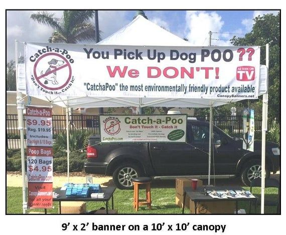 Canopy Banner Posts 40 Long Hang A Banner On The Top Front Of You Canopy With No Tools Or Bungee Cords Vinyl Banners Banner Canopy