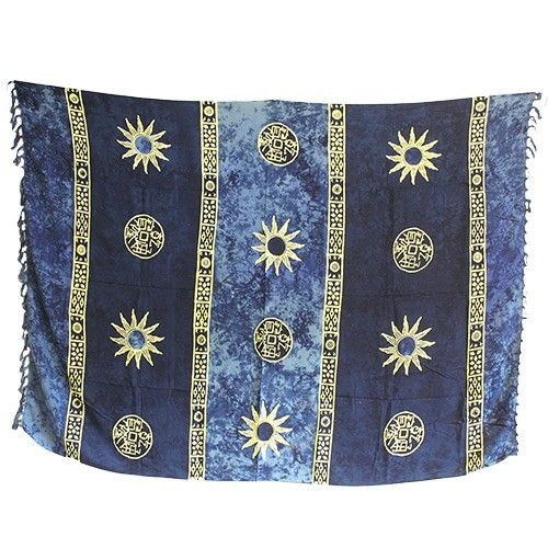 Wholesale Bali Celtic Sarongs - Sun Symbols Scarves  #Blue_Sarongs #Sarongs_Blue #Summer_Sun_Sarongs #Sarongs_Summer