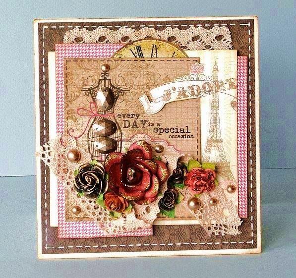 Скрапбукинг открытка бабушке