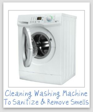 how to clean odors from washing machine