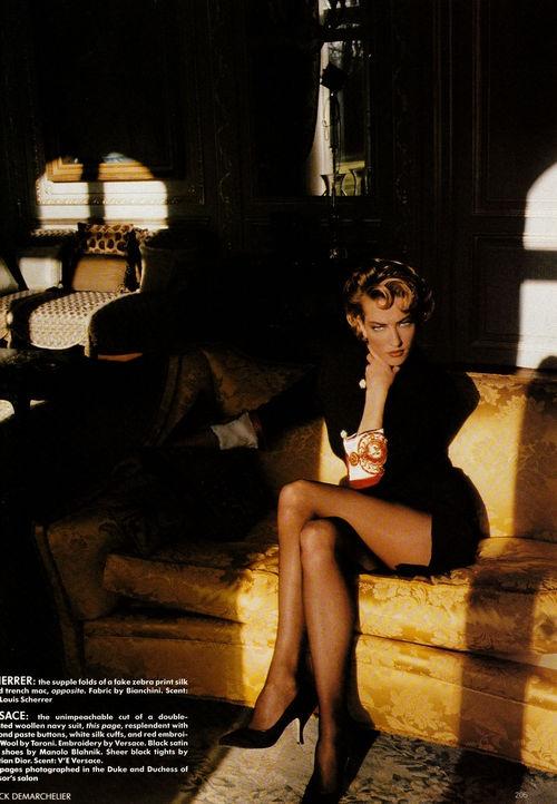 Tatjana Patitz   Photography by Patrick Demarchelier   For Vogue UK   April 1990