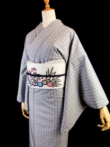 千成堂 花織 琉球紅型名古屋帯