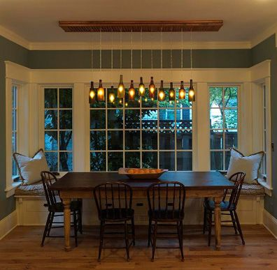 lighting made with beer bottles | Salvaged Beer and Wine Chandelier