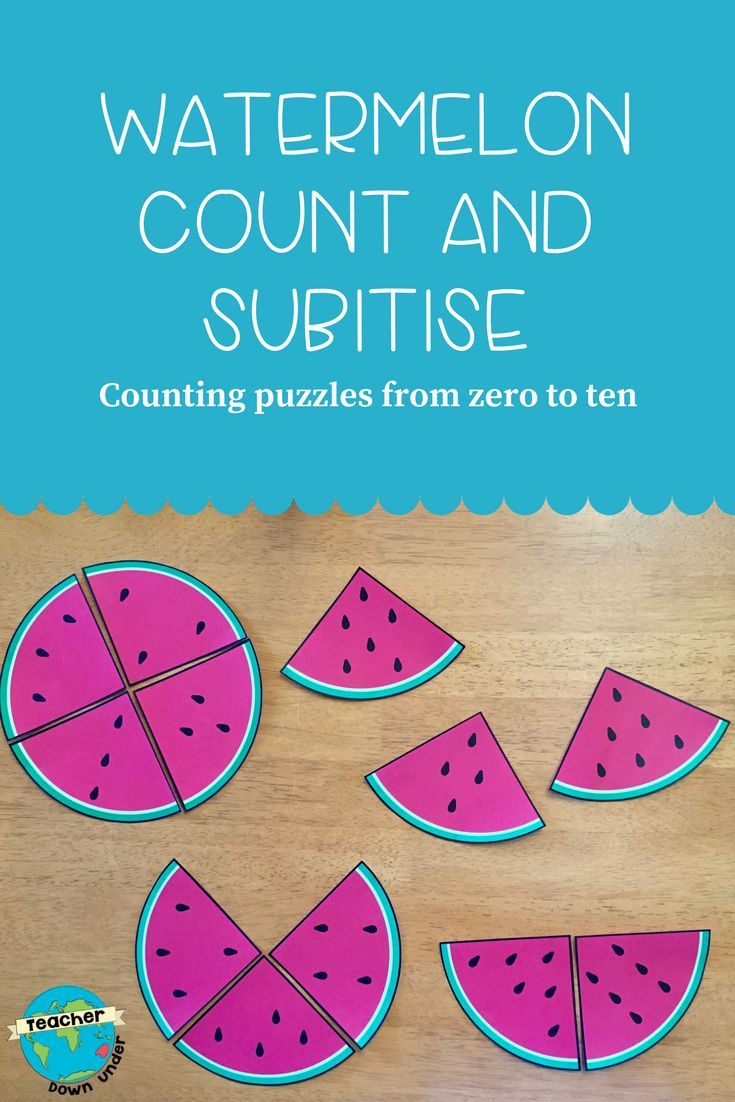 Counting And Subitising With Watermelons Subitizing Homeschool Programs Counting Activities [ 1102 x 735 Pixel ]