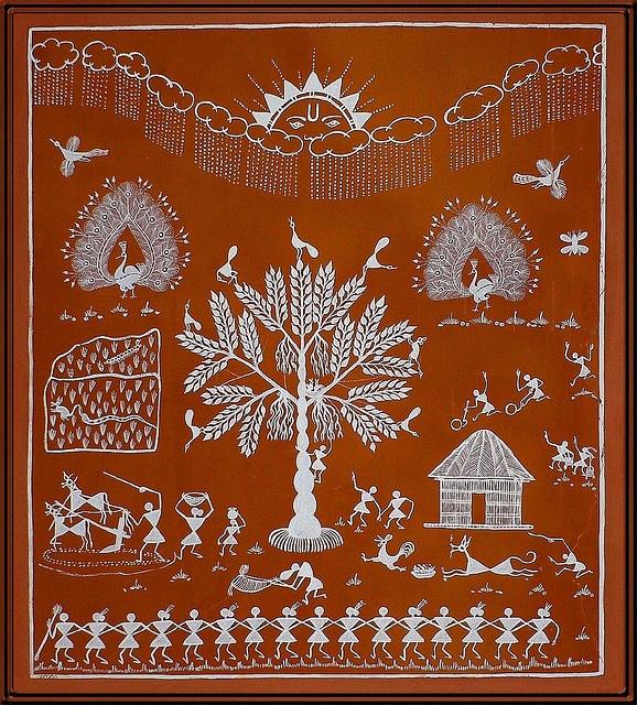 Folkart—Warli painting (Indian)