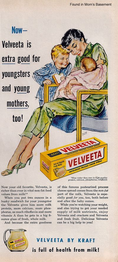Velveeta  Unless you grew up surrounded by Cheddar and Gorgonzola, this was the staple cheese in your household.