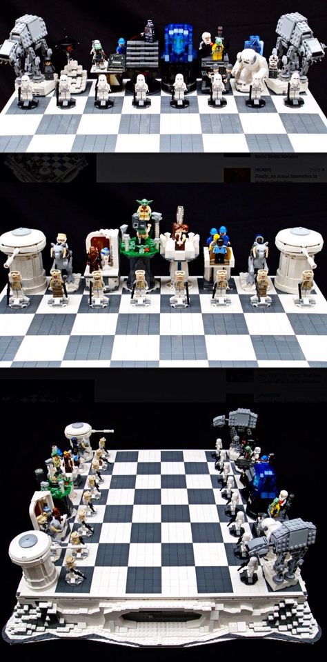 Hermoso ajedrez de lego