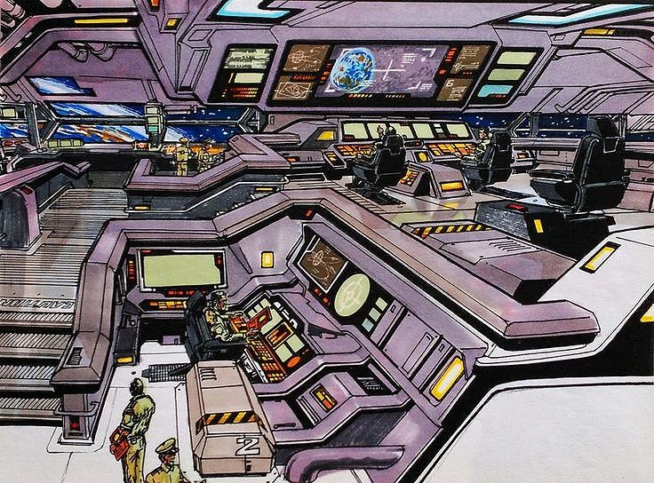 Spaceship command center.  #spaceship  #starship  #controlroom  #commandcenter