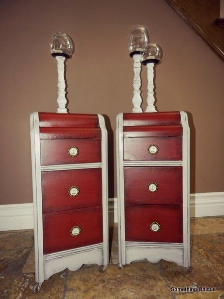 Crafty In Canada Bedside Tables Created From An Old Vanity