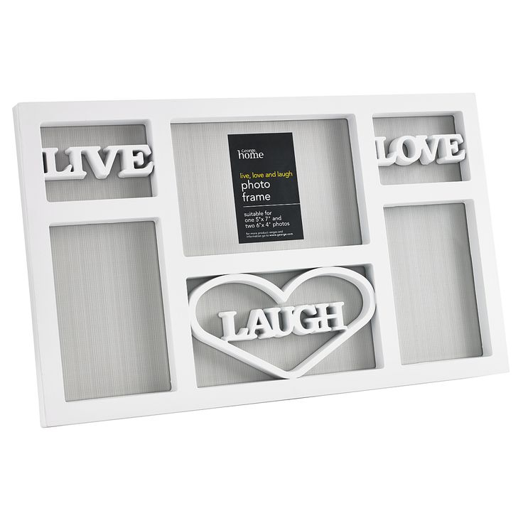 George Home Live Love Photo Frame | January Sale | ASDA direct