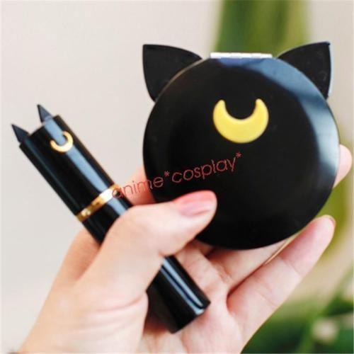 New-Sailor-Moon-Luna-Cat-Makeup-Cosmetic-Mirror-Travel-Portable-Perfume-Atomizer