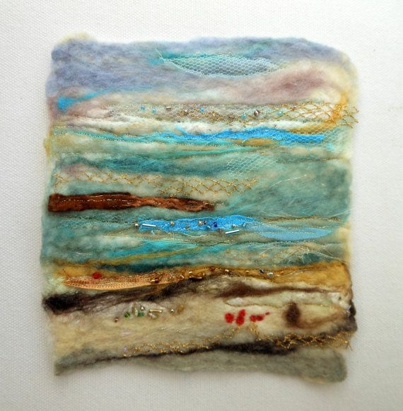 Framed Felt Picture / Mixed Media / Fibre Felt by SerenadeInFelt, £25.00