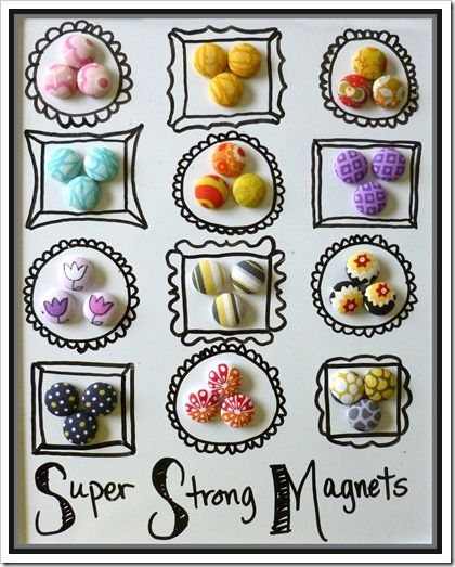 I have everything i need to make these what fabric for Super strong magnets for crafts