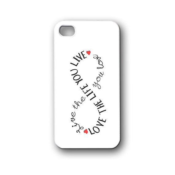 love the life you live quotes - iPhone 4,4S,5,5S,5C, Case - Samsung Galaxy S3,S4,NOTE,Mini, Cover, Accessories,Gift