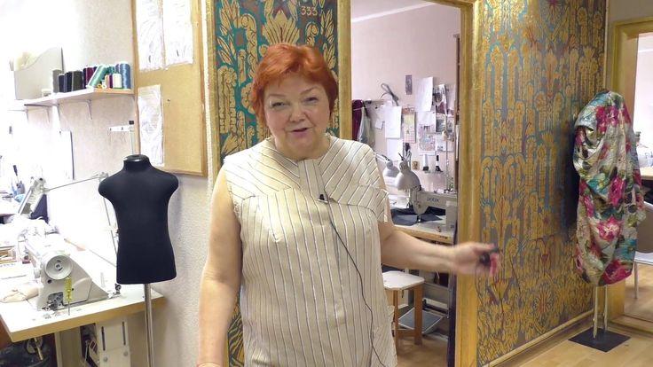Платье из льна в полоску Linen dress with stripes Сегодня Ирина Михайловна делает обзор платья из льна в полоску. Платье находится в работе, оно раскроено и ...