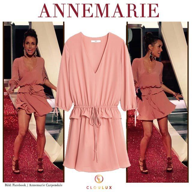 Annemarie Carpendale in einem rosa Kleid von Mango