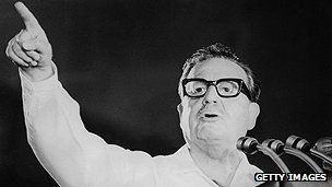 Chile's first socialist president. Inaugurated November 1970, died in September 1973 military coup.  1970 - Salvador Allende becomes world's first democratically elected Marxist president and embarks on an extensive programme of nationalisation and radical social reform.