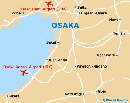 Map of Osaka Kansai Airport (KIX): Orientation and Maps for KIX Osaka Airport