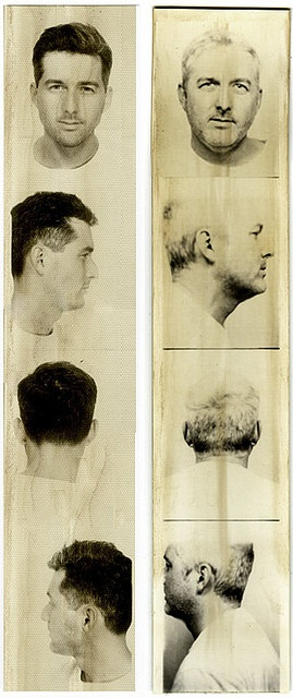Over time... two photobooth strips of same person years apart (1993 & 2006)... in the Collection of Raul Gutierrez