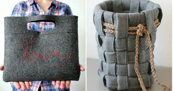 9 DIY con fieltro gris, ¡el color de moda!