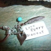 Turquoise pendant, word jewelry inspiration, crystal jewellery, vegan jewelry
