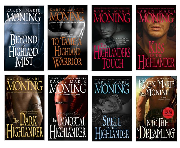 Karen Marie Moning Highlander series. The story lines aren't complicated, its just a fun read. Lots of steamy scenes too.