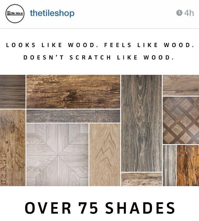 Faux wood. Tile Shop