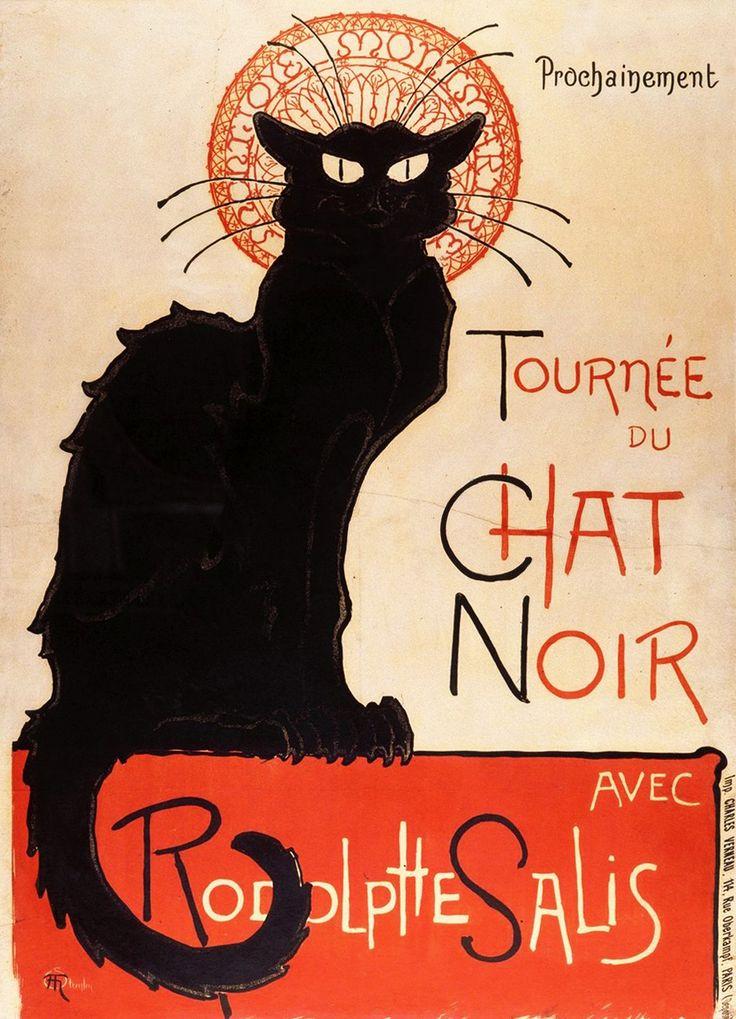 THEOPHILE STEINLEN. Tour Of Rodolphe Salis' Chat Noir. Paris, 1896.
