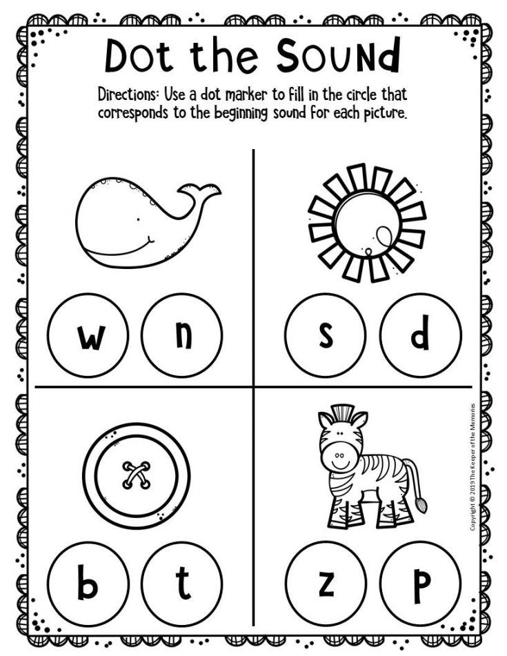 Free Printable Worksheets For Preschool Kindergarten