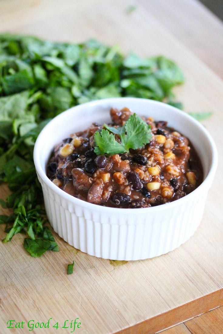 Slow cooker bean and quinoa chili | Recipe | Chili, Quinoa ...