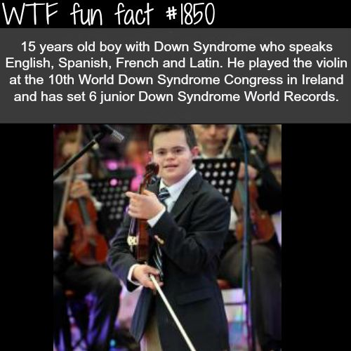 it's not down syndrome if you're going up -WTF fun facts || Awesome kid