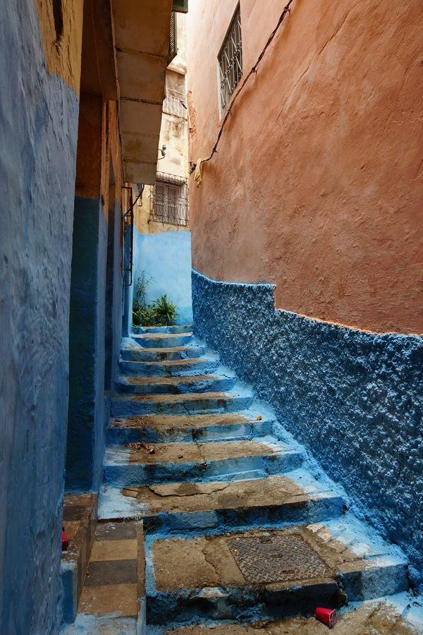 Calles de Tánger, Marruecos